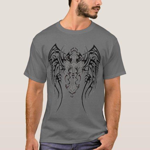 Zazzle Angel Wings Cross Pattern T-shirt