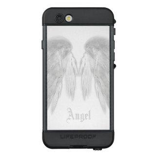 ANGEL WINGS Custom Name White LifeProof® NÜÜD® iPhone 6s Case