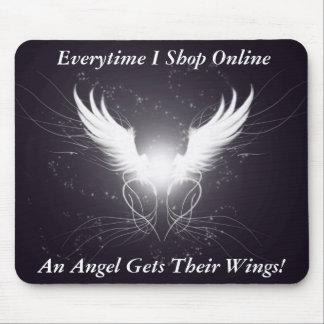 Angel Wings! - Designer Mousepad (Funny)