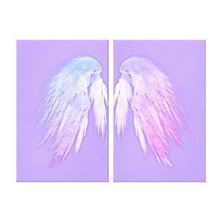 ANGEL WINGS Fairy Purple Canvas Print