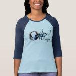 Angel Wings Half Sleeve Blue T-Shirt