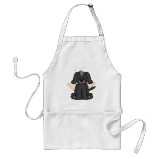 Angel Wings Halo Puppy Dog 3 Adult Apron