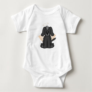 Angel Wings Halo Puppy Dog 3 Baby Bodysuit
