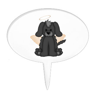 Angel Wings Halo Puppy Dog 3 Cake Topper