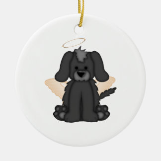 Angel Wings Halo Puppy Dog 3 Ceramic Ornament