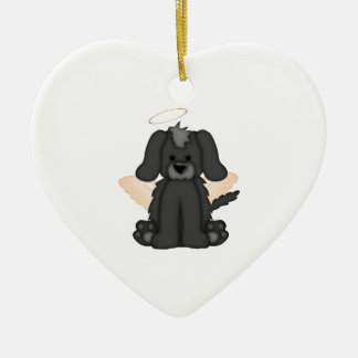 Angel Wings Halo Puppy Dog 3 Ceramic Ornament