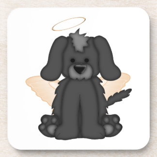 Angel Wings Halo Puppy Dog 3 Beverage Coasters