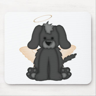 Angel Wings Halo Puppy Dog 3 Mouse Pad