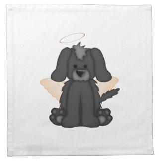 Angel Wings Halo Puppy Dog 3 Cloth Napkin