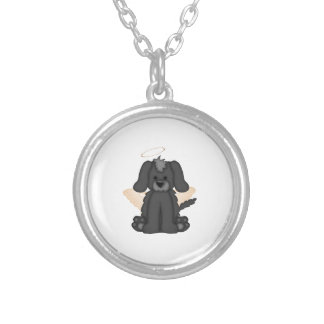 Angel Wings Halo Puppy Dog 3 Custom Necklace