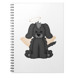 Angel Wings Halo Puppy Dog 3 Spiral Note Books