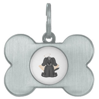 Angel Wings Halo Puppy Dog 3 Pet ID Tag