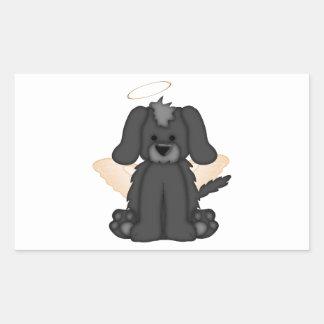 Angel Wings Halo Puppy Dog 3 Rectangular Sticker