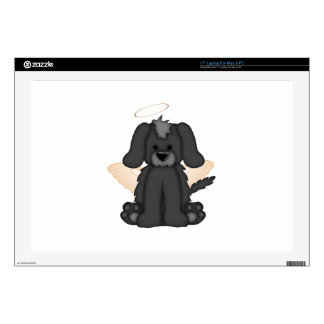 """Angel Wings Halo Puppy Dog 3 17"""" Laptop Decal"""