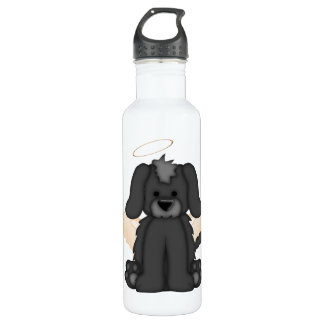 Angel Wings Halo Puppy Dog 3 Stainless Steel Water Bottle