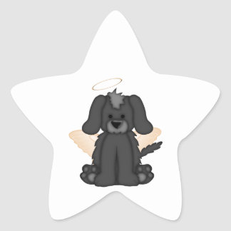 Angel Wings Halo Puppy Dog 3 Star Sticker
