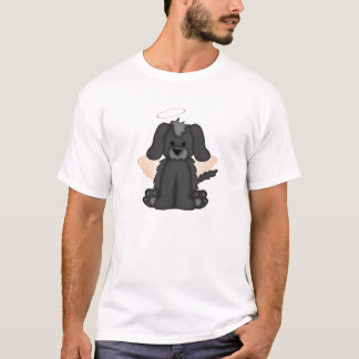 Angel Wings Halo Puppy Dog 3 T-Shirt