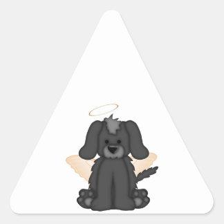 Angel Wings Halo Puppy Dog 3 Triangle Sticker