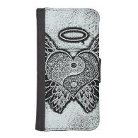 Angel Wings, Heart, Yin Yang Phone Wallet Cases