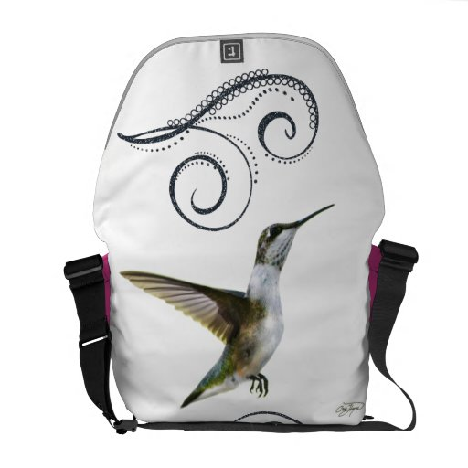 Angel Wings Hummingbird Rickshaw Messenger Bag