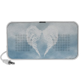 Angel Wings in Cloudy Blue Sky iPod Speakers