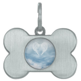 Angel Wings in Cloudy Blue Sky Pet Name Tags