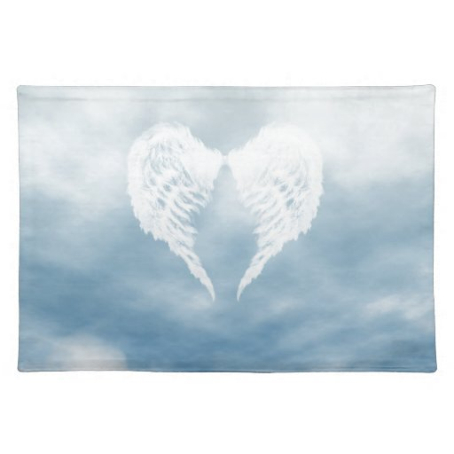 Angel Wings In Cloudy Blue Sky Placemats Zazzle