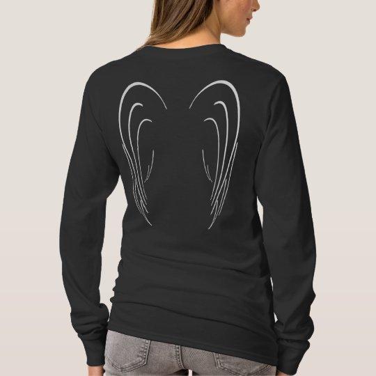Angel Wings Ladies Long Sleeve T-Shirt