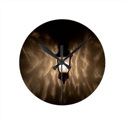 angel wings light round clocks