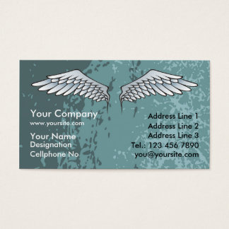 Angel Wings Muddy Blue Business Card