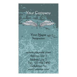 Angel Wings Muddy Blue Business Cards