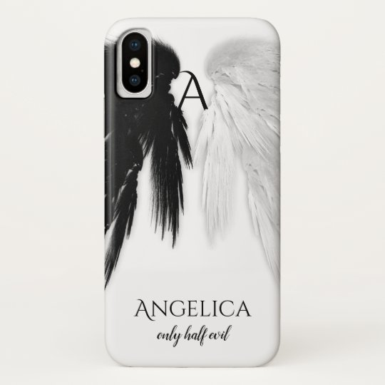 Angel Wings Only Half Evil Monogram Funny Case Mate Iphone Case