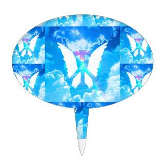 Angel Wings & Peace Cake Topper