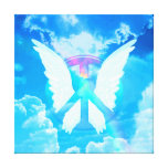 Angel Wings & Peace Sign Canvas Print