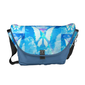 Angel Wings & Peace Sign Courier Bag