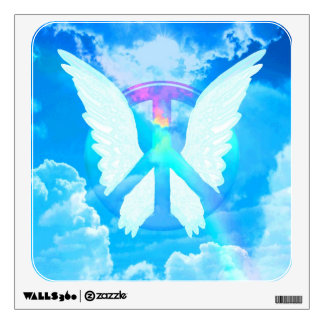Angel Wings & Peace Wall Decal