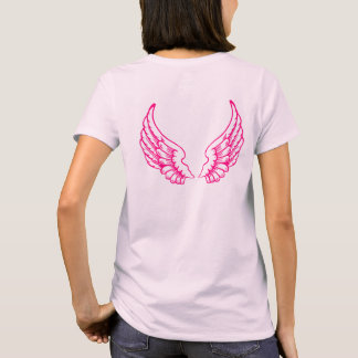 Angel Wings (Pink) Front and Back Tee