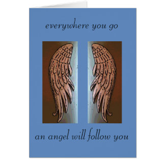 Angel wings sympathy card