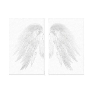 ANGEL WINGS White Canvas Print