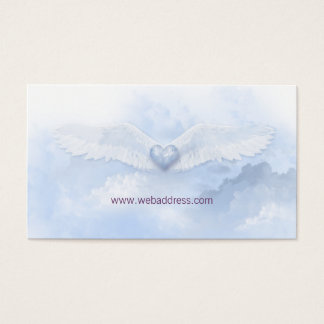 Angel Wings  White Christian Business Card