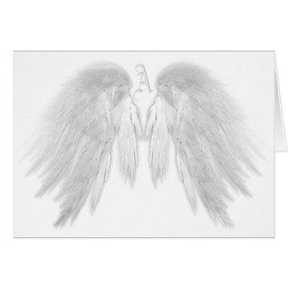 ANGEL WINGS White Custom Monogram Card
