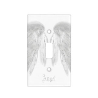 ANGEL WINGS White Custom Name Light Switch Cover