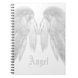 ANGEL WINGS White Custom Name Notebook