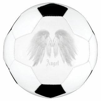 ANGEL WINGS White Custom Name Soccer Ball