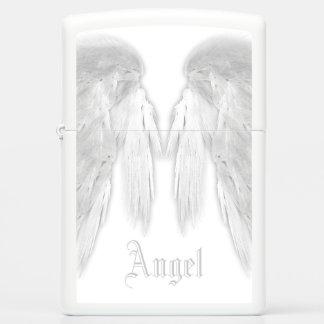 ANGEL WINGS White Custom Name Zippo Lighter