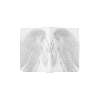 ANGEL WINGS White Customizable Passport Holder