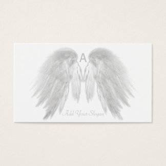 ANGEL WINGS White You Pick Color Custom Business Card