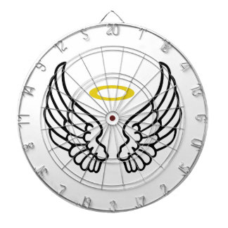 ANGEL WINGS WITH HALO DARTBOARDS