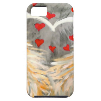 Angel wings with hearts iPhone SE/5/5s case