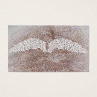 Angel Wings World Golden Spiritual Business Cards